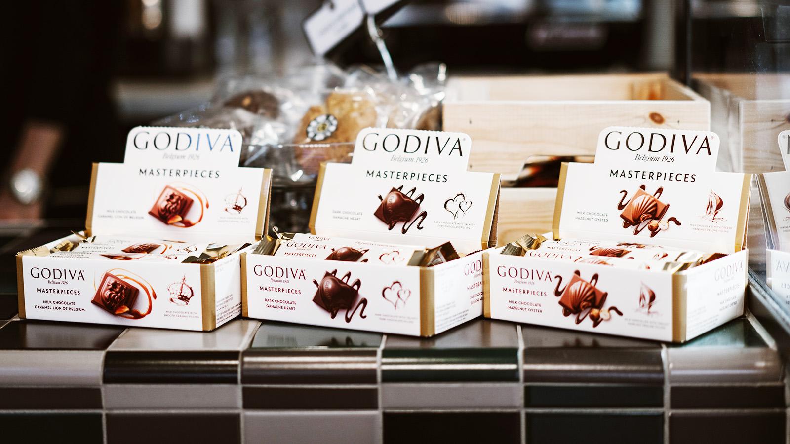 Godiva Chocolade Pladis Verkade